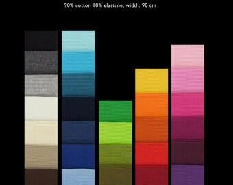 YUMMY RIBBINGS 2x2 cotton elastane rib knit DIY-Combo, 1 m (1.10 yards)