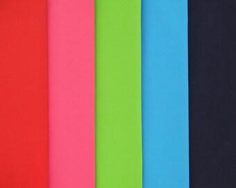 COLORFUL COTTON woven cotton poplin in five vibrant colors