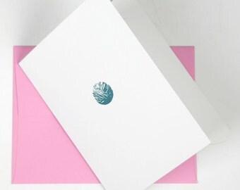 Yarn Ball Letterpress Card