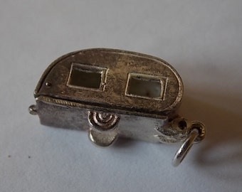 Vintage Silver Caravan Charm UNUSUAL