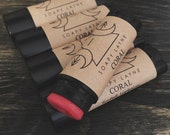CORAL, tinted lip balm, natural vegan lipbalm