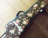 concert ukulele case - Floral Pattern Ukulele Bag (Made to order)