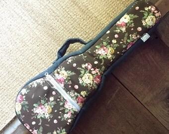 concert ukulele case - Floral Pattern Ukulele Bag (Ready to ship)