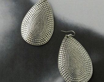 Silver Fashion Drop Earrings