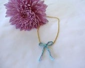 Colorful Braided Bow Necklace