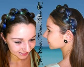 HEADBAND BRAIDED custom color hair piece Fantasy hair accessory Elf fairy hair jewelry Larp Cosplay tiara Gothic Belly Dance hair band
