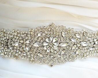 SALE Stella Wedding Belt, Bridal Belt, Sash Belt, Crystal Rhinestones belt