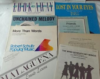 20% OFF Various Pop Songs Vintage Sheet Music