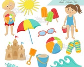 Summer Clipart, Clipart Download, Clip Art Beach, Kids Clip Art, Commercial Use