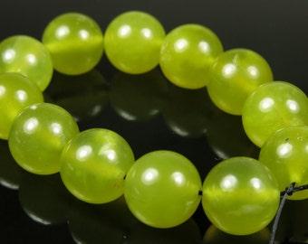 Translucent Korean Jade Round Beads - 10mm - 12 Pieces - B3262