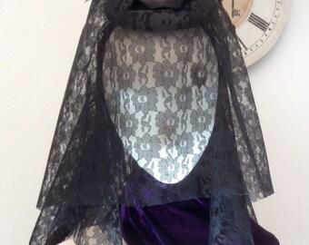 Gothic Victorian headpiece veiled fascinator