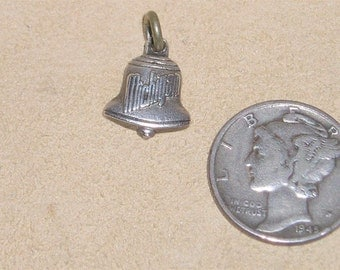 Vintage Sterling Silver Michigan Charm Or Pendant 1940's Signed Jewelry 161