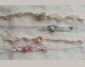 Set of 4 Tiebacks Soft Muted Colors Newborn Photo Props Newborn Tiebacks RTS Props