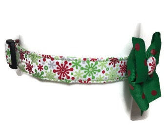 Festive Snowflakes Holiday Collar size Extra Large