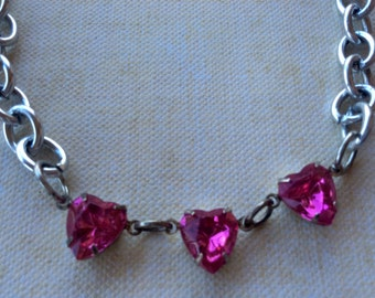 Jewelry Necklace Childrens Authentic Swarovski Crystal Pink Heart