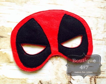 Dead pool hero felt pretend play costume mask