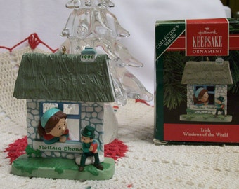 Hallmark 1990 Ornament Vintage Irish Windows of the World Hallmark Christmas Tree Ornament Keepsake Holiday Decor Gift for Irish Lovers