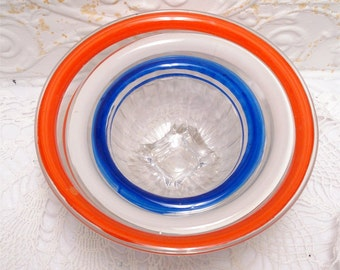 Red White Blue Stripe Mixing Bowls Nesting Set
