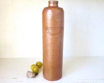 Old Stoneware Bottle Havemeyer Rheinperle Rustic Decor