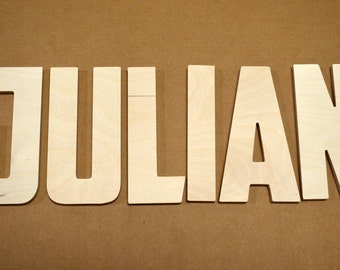 """Wooden  Letters-Wood Wall Letters Unfinished-Custom size available- Many Fonts - 8"""" Size"""