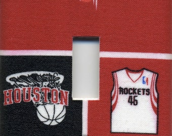 Houston Rockets Single Light Switch Plate