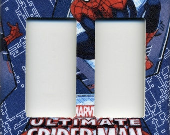Spider-Man Double Decora Light switch plate