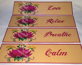 Peach Lotus Bookmarks