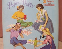 Peg, Nan, Kay, Sue Paper Dolls Book Uncut  Made in USA