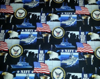 US Navy Cotton/Fleece Blanket 22x22 Personalized