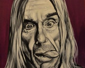 "Iggy Pop - Original 10""x12"" Acrylic Painting by Lee Howard"