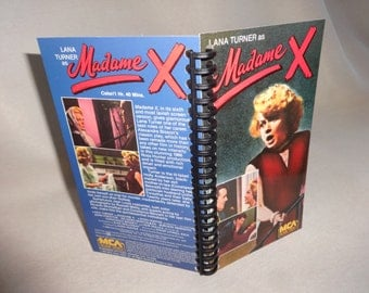 Madame X VHS Tape Box Notebook