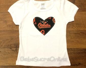 Baltimore Orioles Girls Top