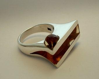 Omega Ring.Silver Art.