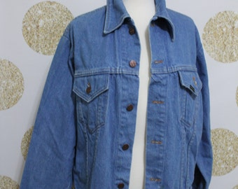 Vintage Sears Roebucks Western Wear Made in USA Jeans Jacket - Size Medium to Large - Mens Jacket Size 44