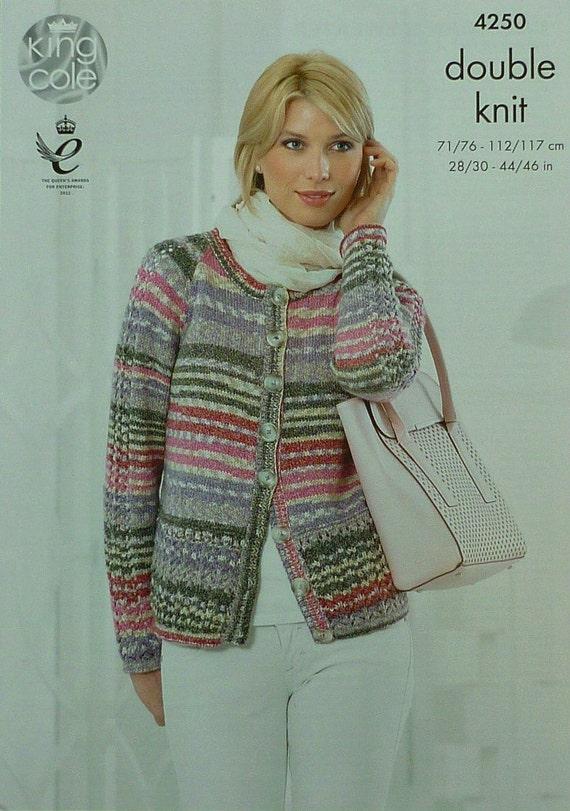 Knitting Pattern Round Neck Jumper : Womens Knitting Pattern K4250 Ladies Long Sleeve Round Neck