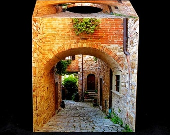 Tissue Box Cover Arch and Lane in Tuscany