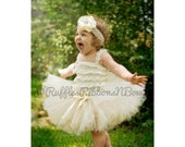 Gold Flowergirl Dress, Gold and Ivory Tutu, tutu, Tutu Dress, Baby Tutu, Birthday Tutu, Birthday Tutu, Newborn Tutu, Gold Tutu, Toddler Tutu