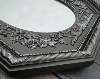 Extra Large Ornate Vintage Mirror Wall Mirror Silver Ornate Gilded Frame, Hollywood Regency Paris Apartment, French Gothic