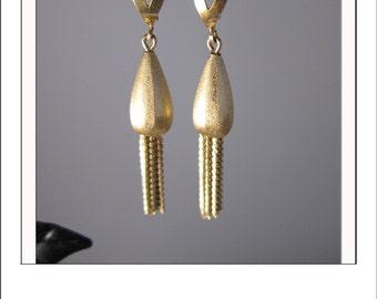 Vintage 18k Gold Chandelier Tassel Dangle Earrings 8.7 grams
