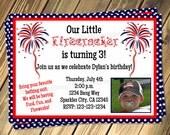 Firecracker Birthday Invitation Print Your Own