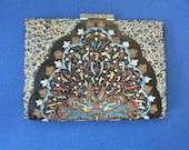 VINTAGE 1950s Clutch Bag Purse Wand Art Jewelled Glamour Fab Fifties