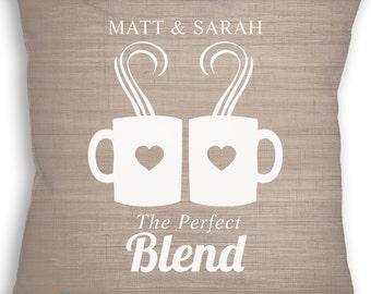 Coffee - Coffee Wedding - Coffee Pillow - Wedding Pillow - Custom Pillow - Personalized Wedding - Custom Wedding Gift - Throw Pillow