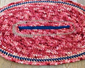 Ready to Ship Small Oval Rug/Rugs/Rug/Crochet Rugs/Crochet Rug/Handmade Rug/Home and Living/Door Mat/Rocking Chair Rug