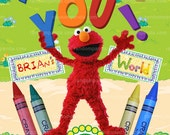Matching Elmo's World Thank You Card, Elmo Birthday, Elmo Party Thank  you Card