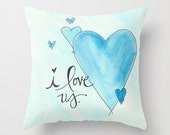 I love us Decorative pillow available in three sizes
