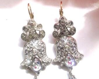 Swarovski Crystal Rhinestone Chandelier  Drop Earrings Bridal Wedding Fashion Party Jewelry