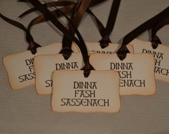 Dinna Fash Sassenach - gift/wish tree tags