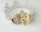 Vintage Newborn Crown, baby crown,  photography prop