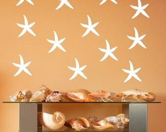 Starfish Decals   Vinyl Wall Decals   Beach Decals   Beach Decor   Nautical Decals   Tropical Decor   5 Inch Starfish   22519