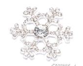 10pcs Rhinestone Snowflake, Wholesale Winter Wedding Invitation Supplies Diamante Crystal Snow Flake Rhinestone Wedding DIY, Flat Back 543-S